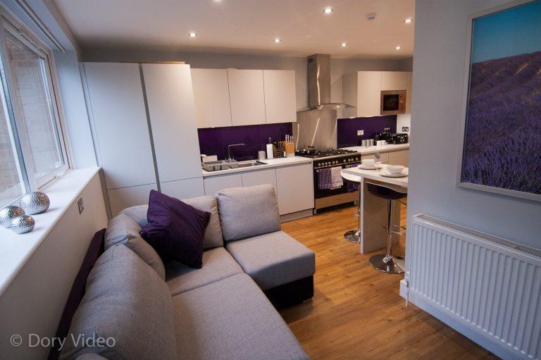 ale grey matt kitchen with laminate worktops#3