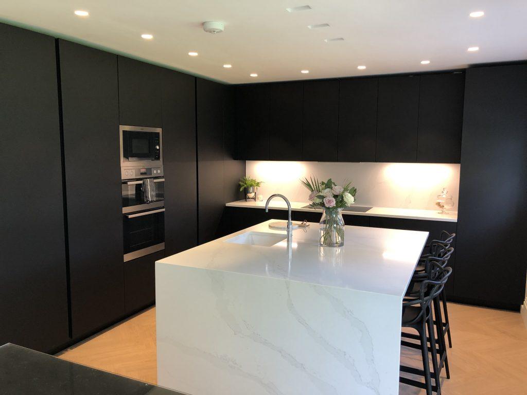 Dark Kitchen, Black Kitchen, Matt Black Kitchen, Kitchen, Black